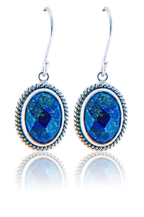 nk lucky lapis silver oval celtic dangle earrings enk sterling leverback jewelry bling