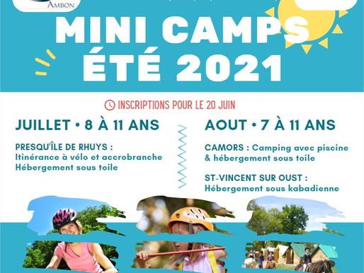 ALSH : inscriptions aux mini camps d'été