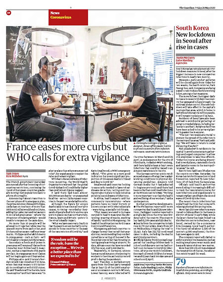 CORONAVIRUS RESTAURANT  The Guardian UK.