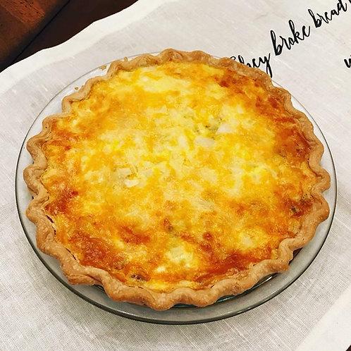 Sausage Quiche in Pie Crust