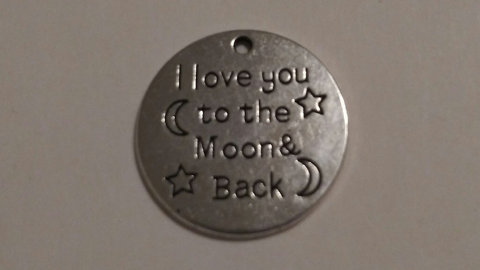 To the moon Charm