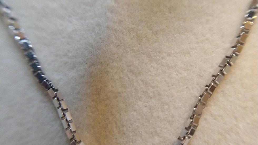 Sterling silver box chain.