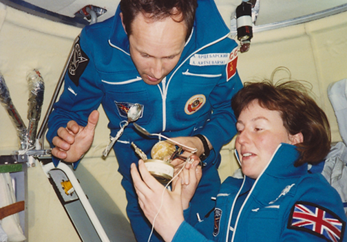Anatole Artsebarskiy and Helen Sharman o