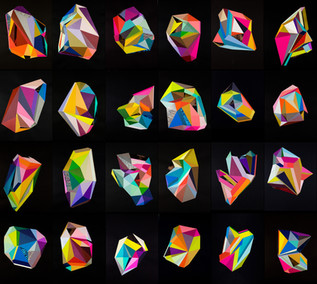 color crystal grid