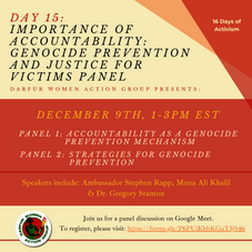 Importance of Accountability: Genocide Prevention and Justice for Victims