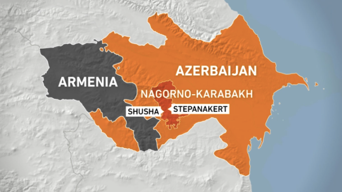 Nagorno-Karabakh is recognised internationally as being part of Azerbaijan, but its population is mostly ethnic Armenian [Al Jazeera)