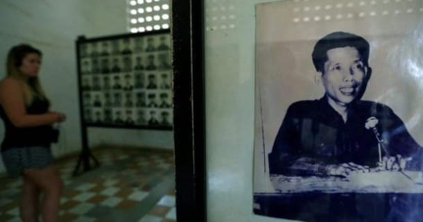 An image of Kaing Guek Eav, also known as Comrade Duch, at the Genocide Museum in Phnom Penh ©2020 Reuters