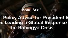 Critical Policy Advice for President-Elect Biden: Leading a Global Response on the Rohingya Crisis