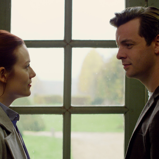 Cara Theobold and Gethin Anthony in AROUND THE SUN