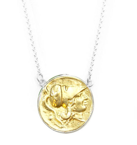 Athena Large Coin - Layering Necklace