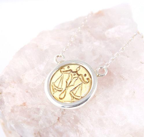 Libra Zodiac - Gold Layering Necklace