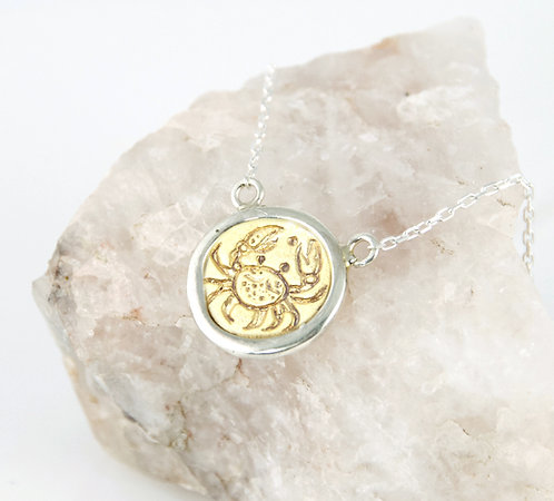 Cancer Zodiac - Gold Layering Necklace