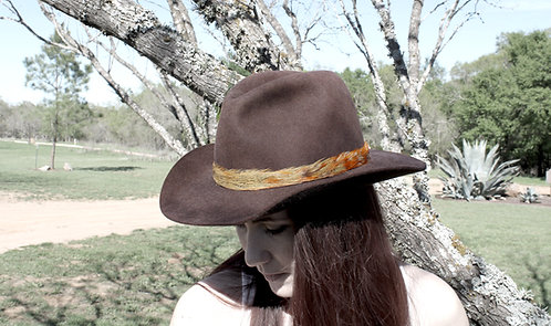 Pheasant Tail Feather Hat Band
