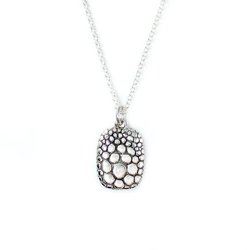 Textured Pendant, sterling silver