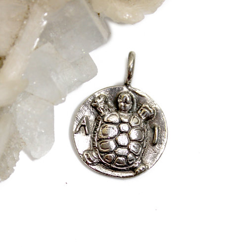 Turtle Coin Pendant - Greek turtle, greek ancient coin