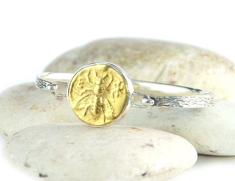 Gold Honey Bee Bracelet