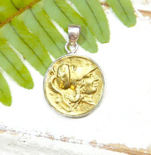 Athena Coin Pendant - Large Size