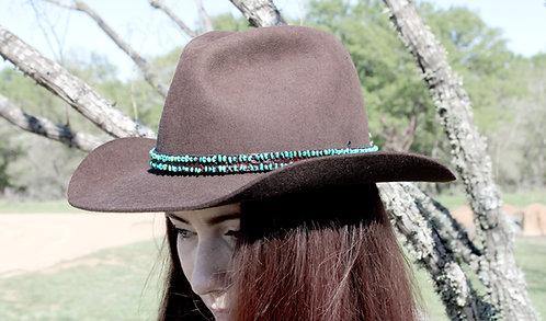 Turquoise - Alligator Skin Hatband