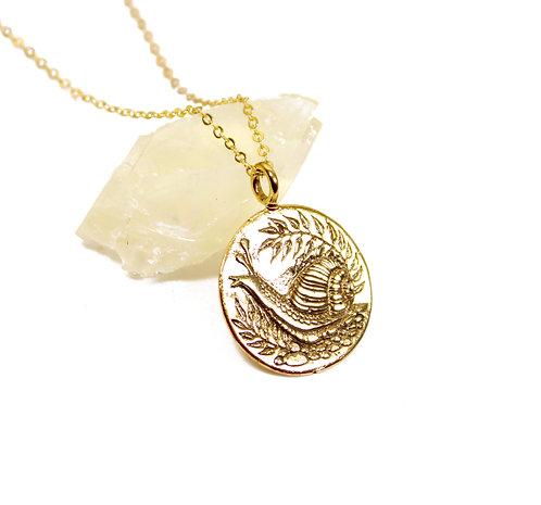 Snail - Magic Mushroom House Necklace, Snail - Mushroom, Mother Nature