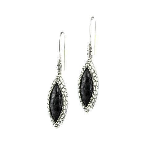 Alligator Marquis Dangle Earrings