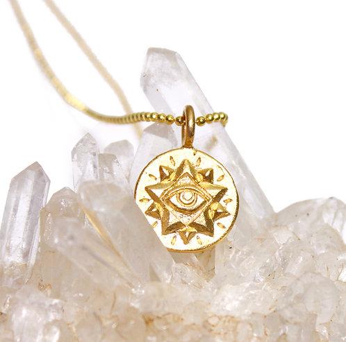 All Seeing Eye Necklace - Eye, Pyramid Pendant - evil eye pendant