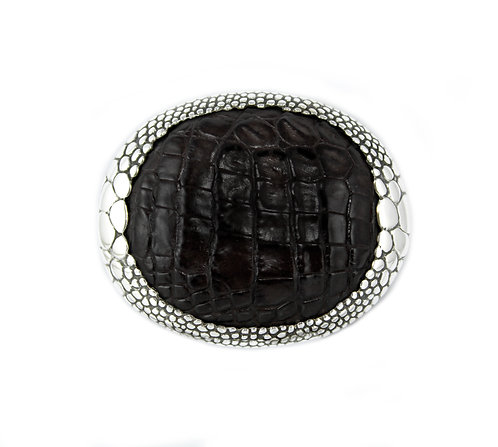 Alligator Oval Belt Buckle