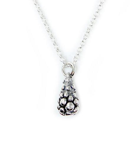 Texture Pendant - Silver Teardrop