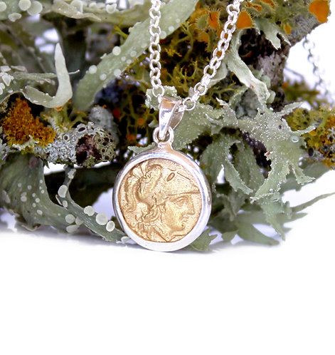 Athena Coin Pendant - Small Size