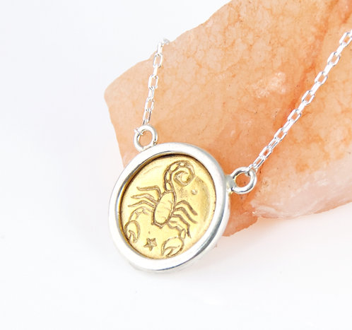 Scorpio Zodiac - Gold Layering Necklace