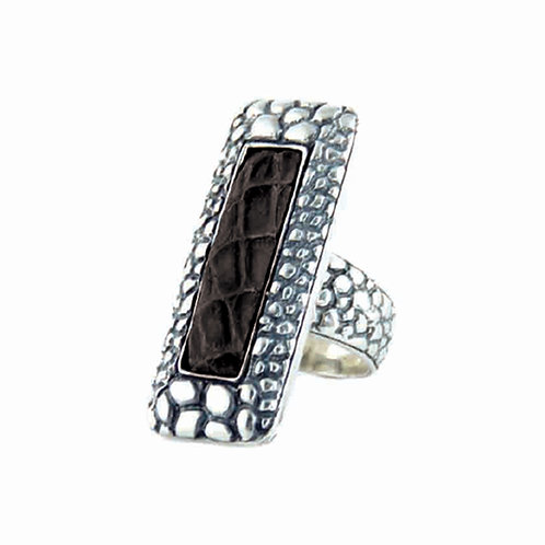 Alligator Ring, Elongated Design