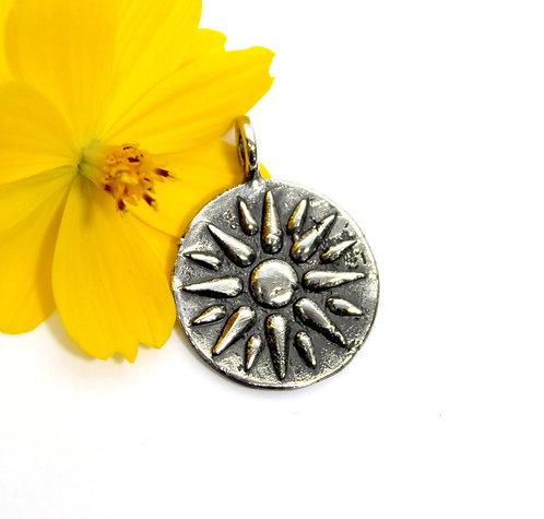 Sun Medallion Necklace, Roman Lion, Sun Pendant