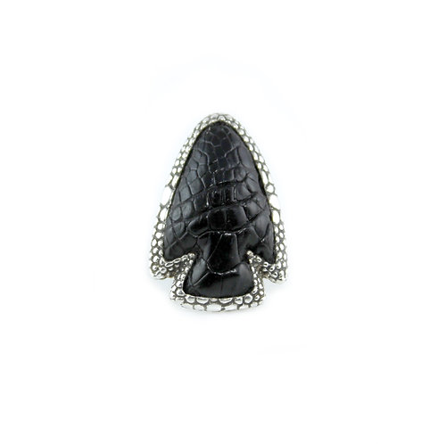 Arrow Head Ring - Alligator Leather