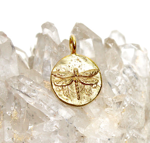 Dragonfly Pendant, Flower of Life Symbol, dragonfly charm, pendant necklace