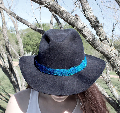 Peacock Feather Hat Band