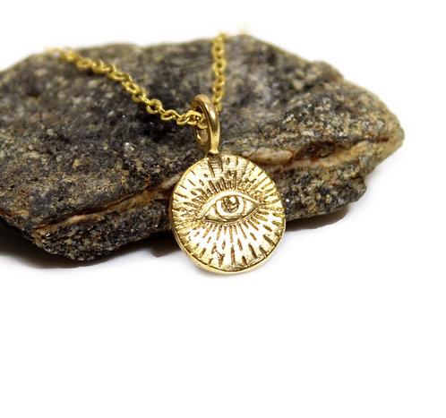 All-Seeing-Eye of Providence Illuminati Eye Pendant Necklace