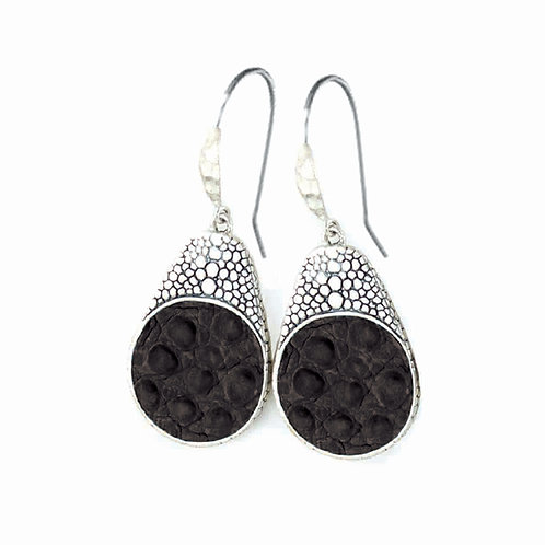 Alligator Teardrop Dangle Earrings E-110