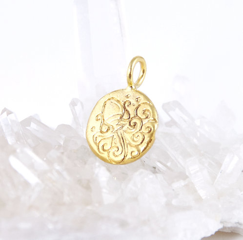 Aquarius Zodiac Sign Pendant