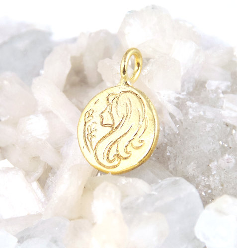 Virgo Zodiac Sign Pendant
