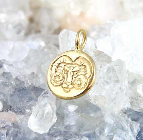Aries Zodiac Sign Pendant