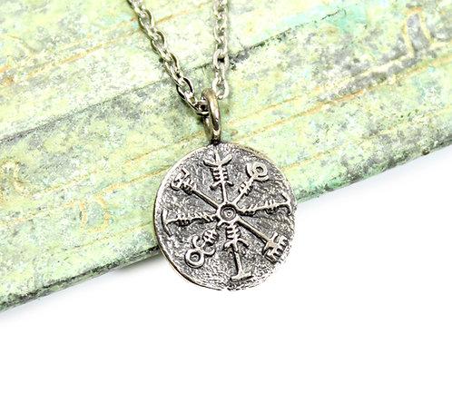 Viking Compass - viking coin pendant, valhalla