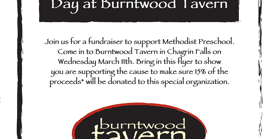 Preschool Fundraiser: Burntwood Tavern