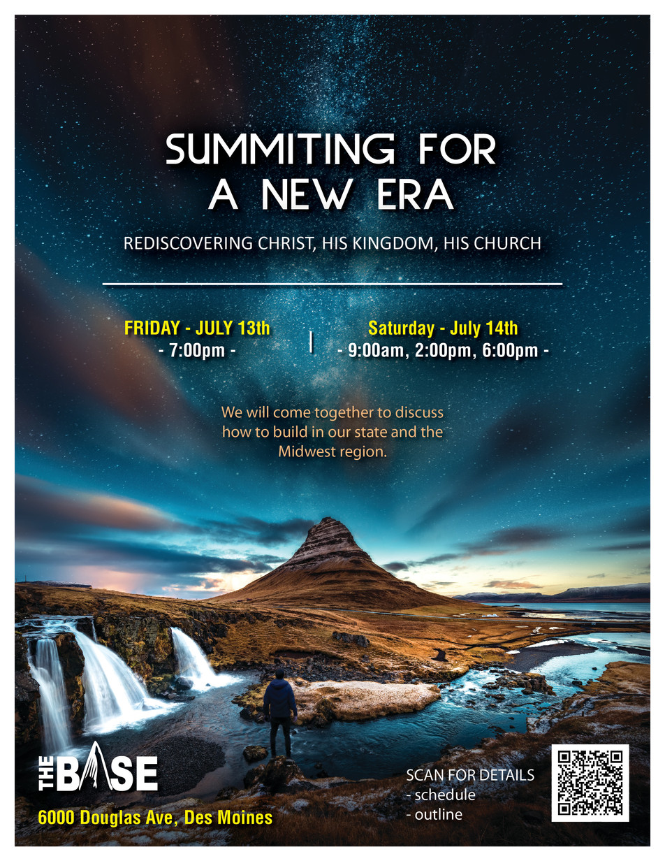 Event Flyer Design - Summiting for a New Era