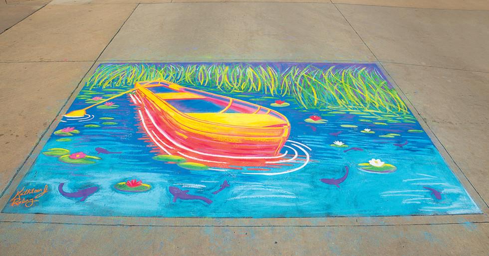 ARTapalooza Cedar Falls Iowa_Kathleen Roling Chalk Artist