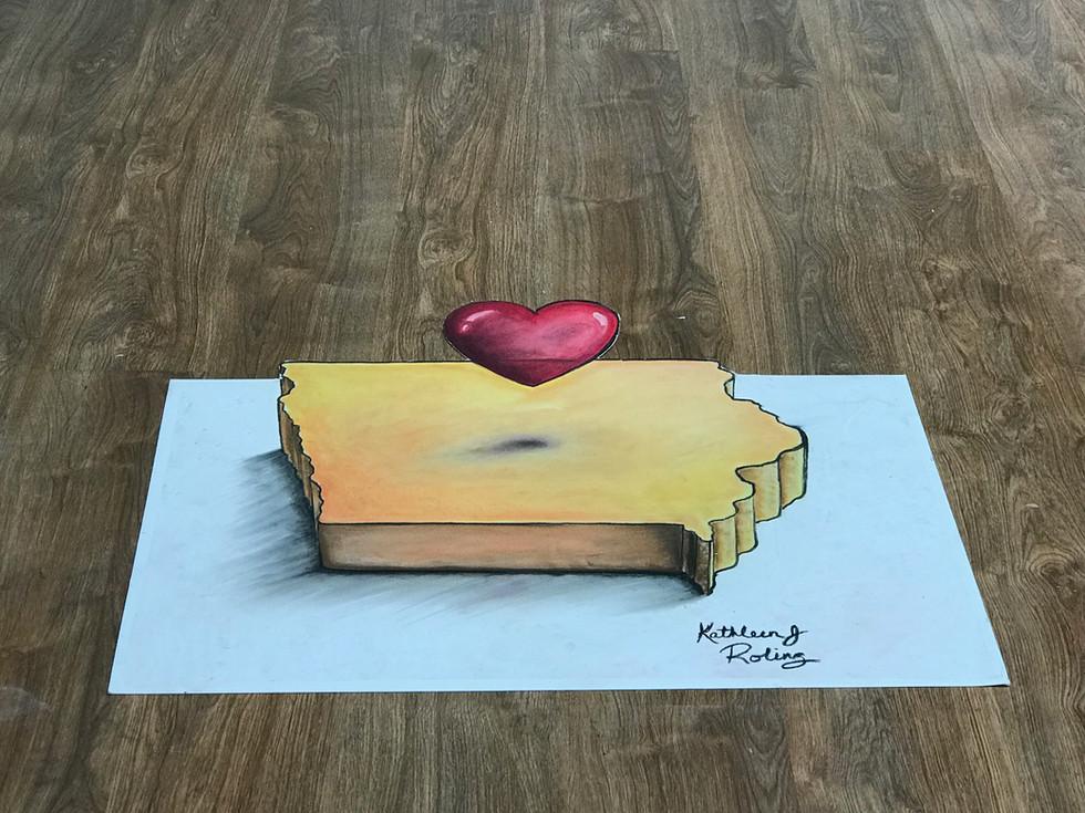 Indoor Heart of Iowa 3D _ Kathleen Roling
