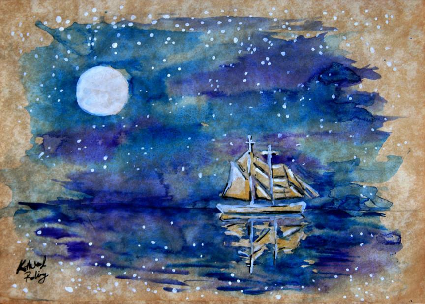 Midnight sail_Iowa Artist Kathleen Roling.jpg