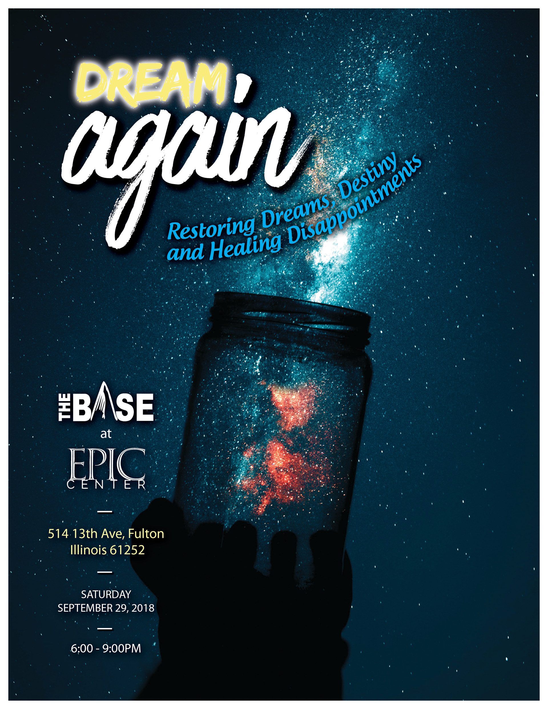 Dream Again Event Flyer