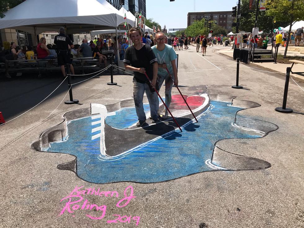 Italian Heritage Festival 2019_3D Chalk Art_Kathleen Roling