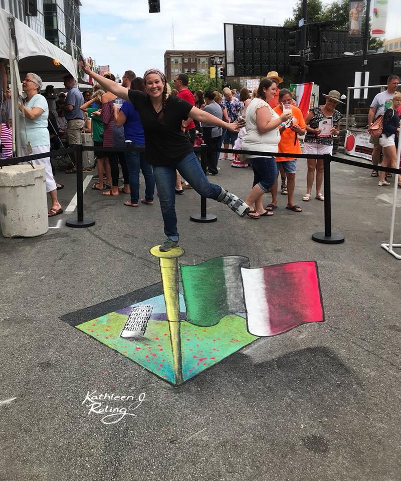 Italian Heritage Festival_DesMoines_Iowa_Chalkartist_Kathleenroling