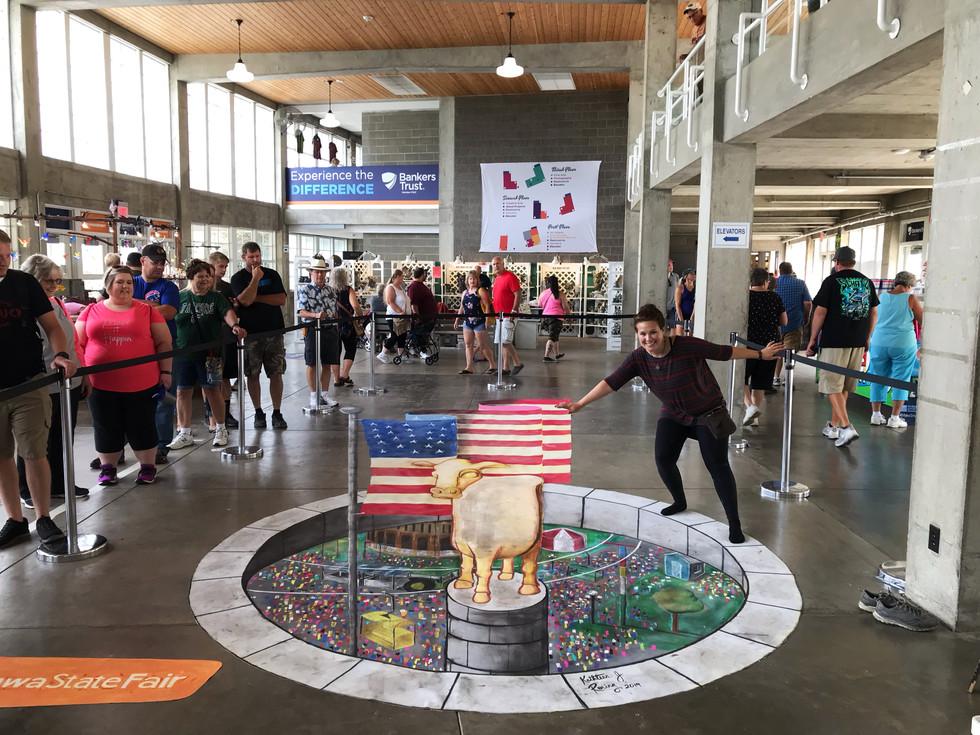 Iowa State Fair 2019 3D Chalk Art_Kathleen Roling