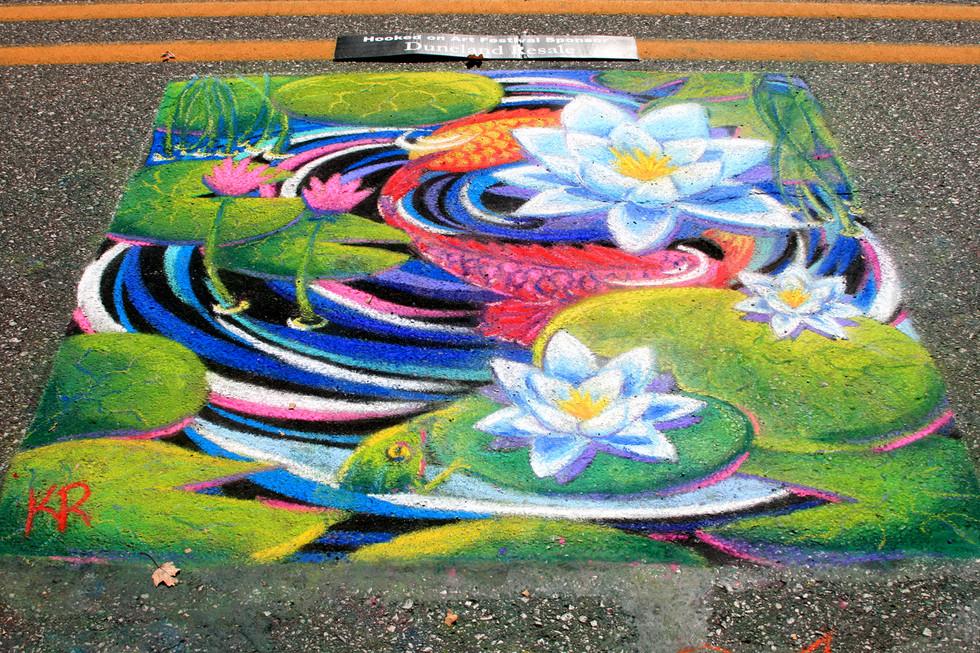 Kathleen Roling_Chalk Artist_Festival_ hookedonart